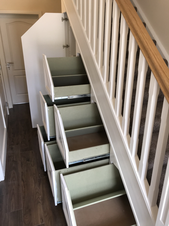 Six unfinished moisture resistant  drawers (basic unit)