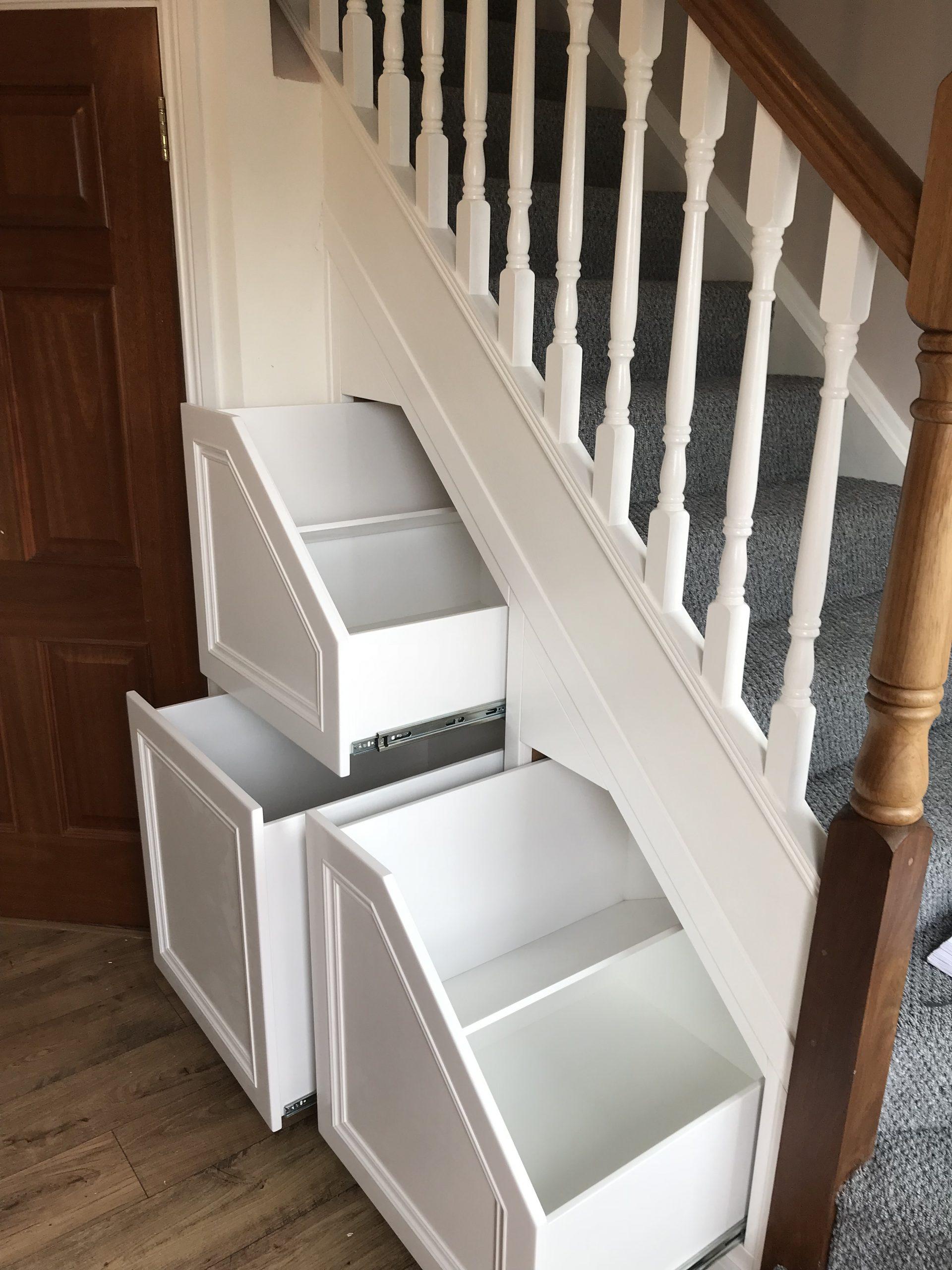 Three drawer white insides